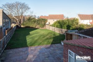 Garden in a rented property