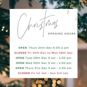 Christmas Opening 2020