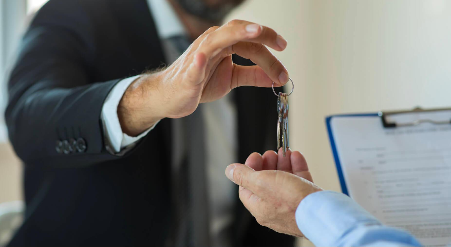 Letting Agents key handover